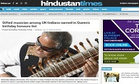 11th June Hindustan Times - Gifted musician among UK-Indians named in Queen�s birthday honours list
