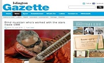 16th June 2016 Islington Gazette - Blind musician whos worked with the stars made OBE