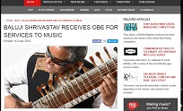 14th June 2016, PRS for Music M-Magazine - Baluji Shrivastav Receives OBE for Services to Music