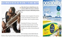 15th June 2016, PosAbility Magazine Online - Baluji Shrivastav Receives OBE for Services to the Musi